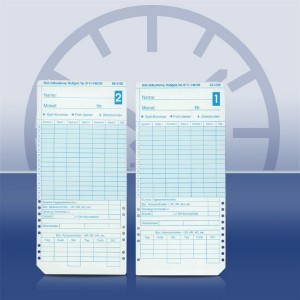 Stempelkarten ER 3100 / ER 2200 / ER 2500