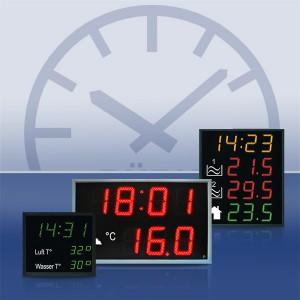 Zeit- und Temperaturanzeigen DT