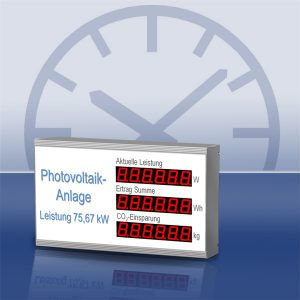 Photovoltaik-Anzeige
